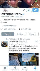 Stéphane Hénon re-tweet