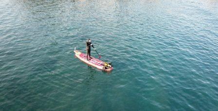 plonger du bord en paddle