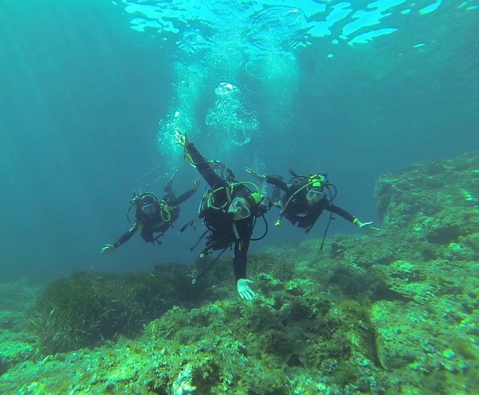 une palanquée de plongeurs