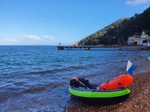 plonger du bord en kayak
